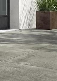 dalles de béton terrasse