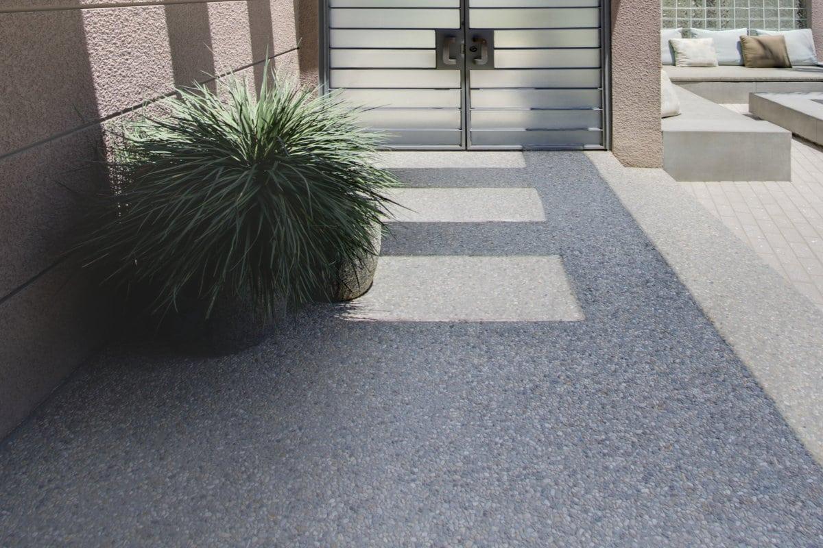 tapis de pierre exterieur