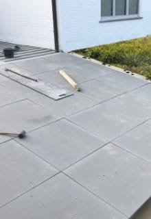 terrasse dalles beton