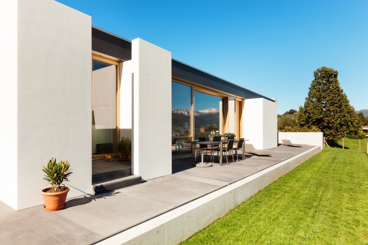 terrasse beton lisse