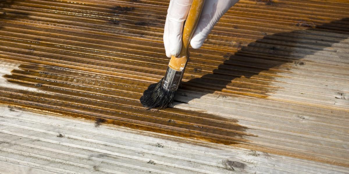 terrasse bois grisaillement