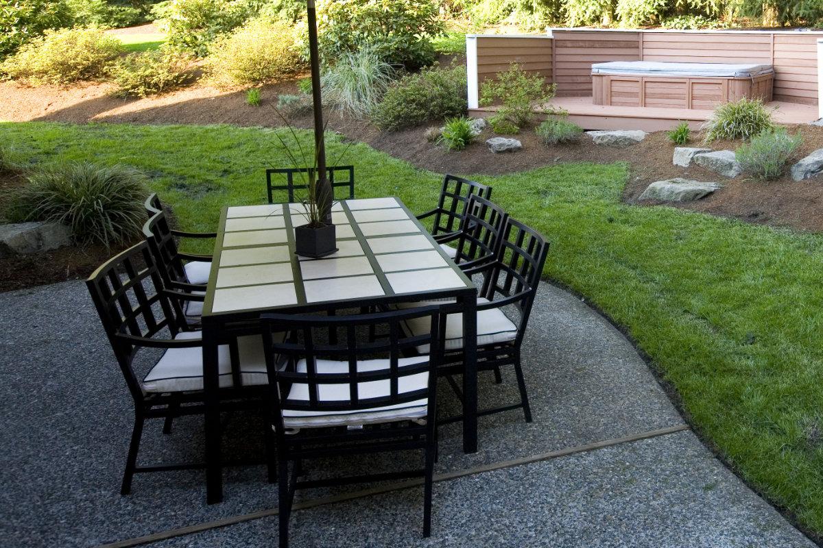 terrasse tapis de pierre